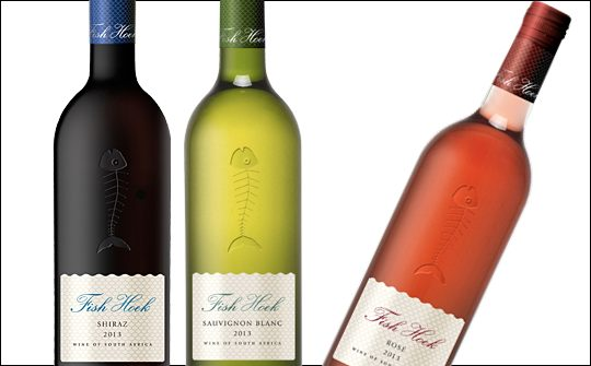 Fish hoek wines have new bespoke bottle for Fish wine bottle